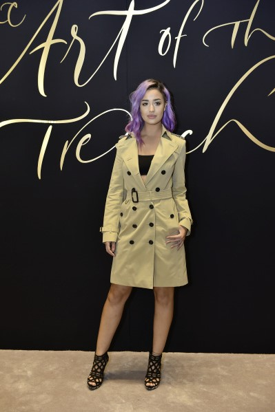 Nina Abdel Malak at Art of the Trench Middle East Event in Dubai