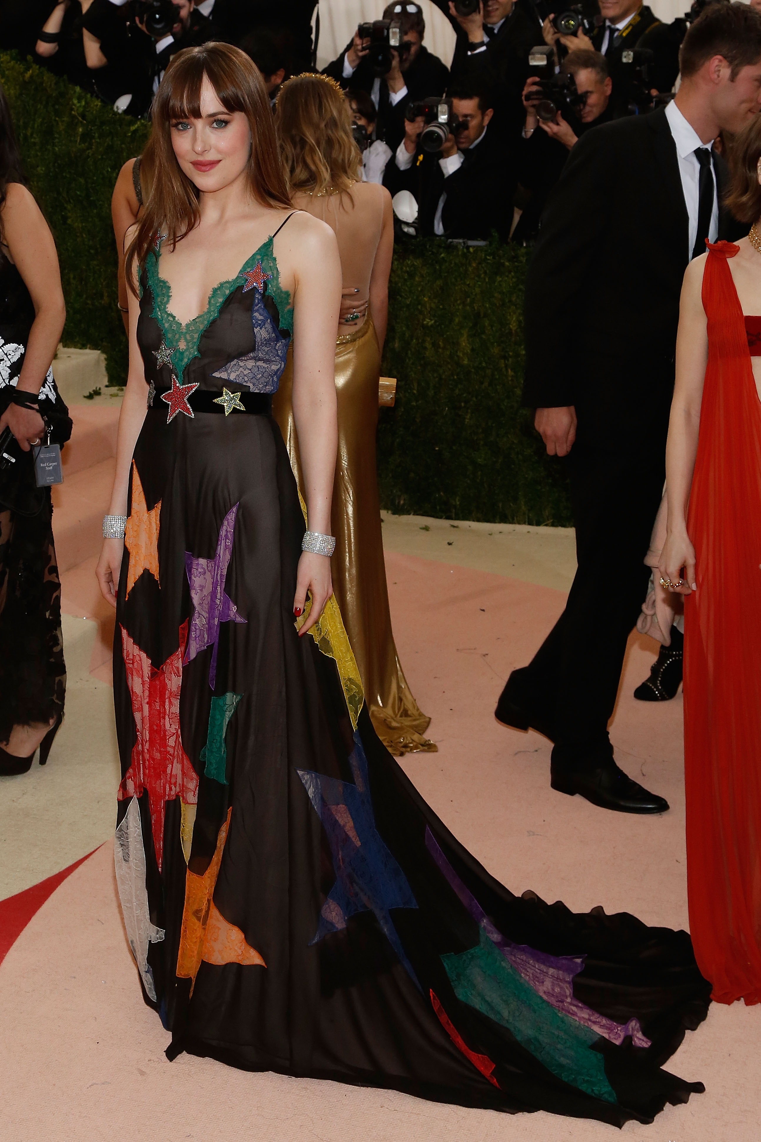 "NEW YORK, NY - MAY 02:  Dakota Johnson attends ""Manus x Machina: Fashion in an Age of Technology"", the 2016 Costume Institute Gala at the Metropolitan Museum of Art on May 02, 2016 in New York, New York.  (Photo by Taylor Hill/FilmMagic)"