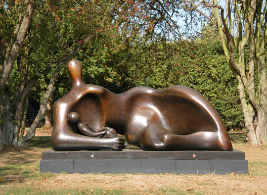 Draped Reclining Mother and Baby (1983) c Henry Moore Foundation
